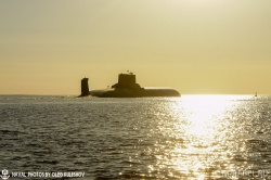 Выход в море атомной подвод