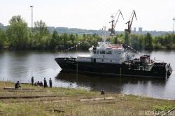 Спуск на воду головного БГК пр. 23040Г