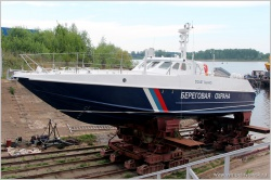 Спуск на воду катера проекта 12150 (