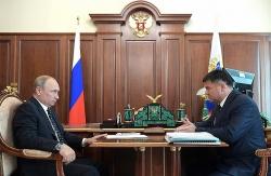 Владимир Путин и Андрей Тарасенко / пресс-служба К