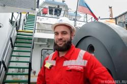 Александр Аврамец, моторист судна