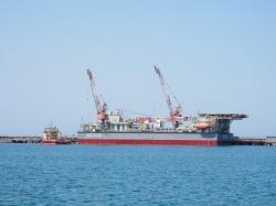 Буксировка с порта Актау на