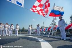 Церемония подъема Андреевс
