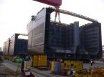 Судостроительный завод STX - МЕГА блоки, перемещен